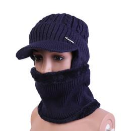 a426809186c33 Winter Hat Scarf Beanies For Men Knitted Hat Women Mask Thick Balaclava  Earflap Wool Bonnet Male Beanie Hats Cap