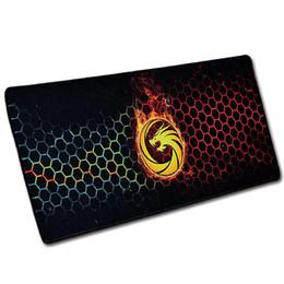 Multas atacado preço grande jogo ratos tapetes tapetes de borracha personalizado grande mouse pad oversized desk mats dragão vermelho preto