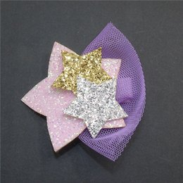 $enCountryForm.capitalKeyWord Australia - Sparkly Star Grips 10pc Lot Cartoon Animal Hair Clip Glitter Synthetic Leather Unicorn Hairpin Animation Horse Kid Hair Barrette