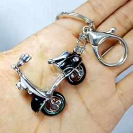 $enCountryForm.capitalKeyWord Australia - Motorbike key Chains bicycle pendant Cute motor Crystal Key rings Small Rhinestone Crystal Charm Pendant Car Bag Chain