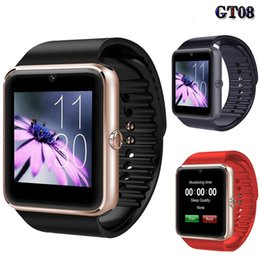 Discount message phone - Smart Watch GT08 Clock Sync Notifier Support Sim Card Bluetooth Connectivity for iphone Android Phone Smartwatch Watch W