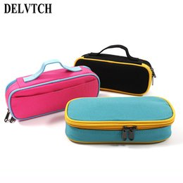 Bags Schools NZ - DETCH Portable Oxford Fabric Waterproof Pencil Bag Pen Case School Student Stationery Storage Bag Organizer Kids Children Gift