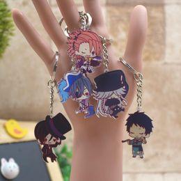 Cartoon Butler Australia - Black Butler Acrylic Keychain Pendant Car Key Chain Cute Key Accessories Japanese Cartoon Ring