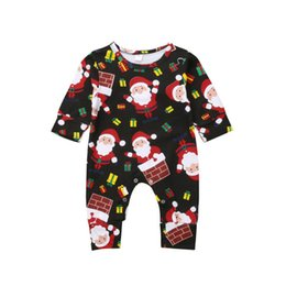 Santa Claus Girls Jumpsuit Australia - Lovely Christmas Romper Newborn Baby Boy Girl Xmas Santa Claus Romper Long Sleeve Jumpsuit Playsuit Outfit Clothes 0-12M Y18102907
