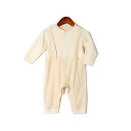 Discount girls 2t onesies - 2019 New Baby Onesies Design Boys And Girls Newborn Baby Fake Two Autumn Clothes Jumpsuit Simple Fashion