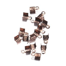 Discount antique bronze beads - 1000pcs lot 3*6mm fit 2mm Cord End Caps End Clasps Crimp Beads Antique Bronze Color Connectors for Jewelry Making Findin