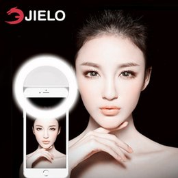 Wholesale JIELO Mobile phone Selfie Ring Flash lens beauty Fill Light Lamp Portable Clip for Photo Camera For Cell Phone Smartphone