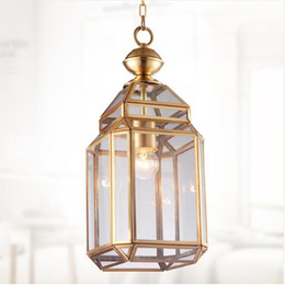 Energy Saving Shades Australia - SVITZ Yard 1 pcs clear glass shade pendant light Milan style Copper shopcase light E27 holder industrial Rural Corridor Kitchen Light