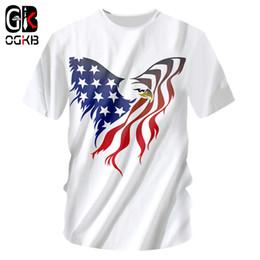 OGKB Men Tshirts Cool Print American Flag Eagle 3D T-shirts Man  Bodybuilding Fitness Short Sleeve Crewneck Tee Shirts Unisex 7XL 1f1cc382155c