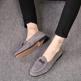 Neue Trend Herrenschuhe für 2018.Personality Schmetterling modische Echtleder Bohne Schuhe. Lederschuhe der stilvollen Männer beiläufige. T264 im Angebot
