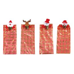 China Christmas Beer Bottle Bags Cover Case Deer Bear Snowman Gauze Party Supplies cheap snowman beer suppliers