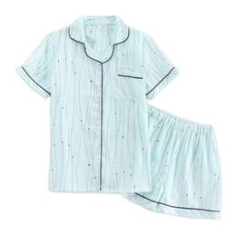 Summer Lounging Pajamas UK - Summer green Polka Dot short pajamas sets women  sleep lounge pyjamas 422977286