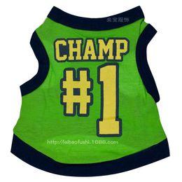 Green Basketball Shirts NZ - Spring and Summer Fashion Sports Basketball Dog Clothes Costume Chihuahua Pet Dog Clothing Cool Dog Shirt Vest Free Shipping