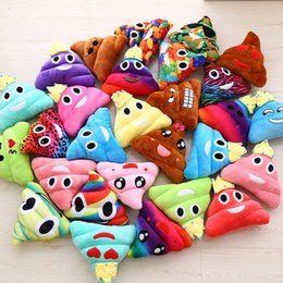 Discount kawaii cushion - 20*25cm Kawaii Cute Emoji Cushion Pillow Stuffed Plush Toy Doll Poop Face Decorative Pillow Promotion Gifts