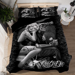 $enCountryForm.capitalKeyWord Australia - Bedspreads Bedclothes 3D Reactive Printed Bedding Sets Monroe Actor Polyester Duvet Covers Pillow Shams Comforter Fashion King Size