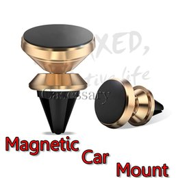 Wholesale Universal Aluminum alloy Air Vent Magnetic Car Mount Cell Phone Holder For iPhone and Android Smartphones Car GPS Phone Holders