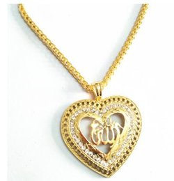 Chinese  Arabic Women Gold-color Muslim Islamic God Charm Pendant Necklace Jewelry Ramadan Gift Copper Chain Necklace manufacturers