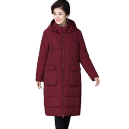 $enCountryForm.capitalKeyWord UK - Middle-aged Mother Clothing Winter Warm Down Cotton Jacket Women Parkas New Loose Hooded Long Outerwear Women Cotton Coats Y117