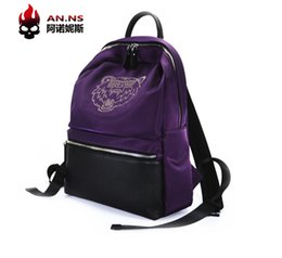 Purple Book NZ - Men's and women's bag 2018 autumn new south Korean Oxford double shoulder bag with new simple pattern lovers backpack leisure book