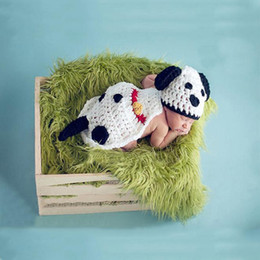 $enCountryForm.capitalKeyWord Australia - Baby Photo Props Handmade baby white dog photography photo handmade cloak baby suit handmade hats