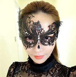 Chinese  Creative Party Mask Woman Sexy Costume Iron Hollow Mysterious Masquerade Mask 3 Styles Makeup Party Phoenix Masks manufacturers