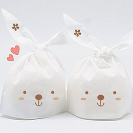 $enCountryForm.capitalKeyWord NZ - 50pcs lot Rabbit Ear Biscuit Cookie Bags birthday Party Decorations Casamento Candy Bags Kids Baby Shower Favors Gifts