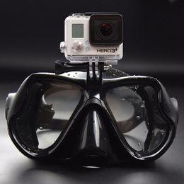 Underwater mask camera online shopping - Hot sale Professional Underwater Camera Diving Mask Scuba Snorkel Swimming Goggles for GoPro Xiaomi SJCAM Sports Camera