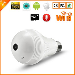 camera bulbs UK - YITUO 360 degree 1080P Wireless IP Camera Bulb Light FishEye Smart Wireless CCTV Camera 2MP Panoramic Security WiFi Camera