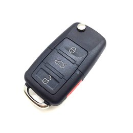 Car Key Case Shell Passat Canada - 4 Buttons Folding Flip Fob Remote Car Key Shell with Screwdriver for VW Passat Jetta Golf Uncut Blade Car Key Case NO Chip