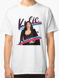 Ingrosso Kylie Jenner Mens White T shirt Taglia S-2XL Mens T Shirt Estate O Collo 100% cotone a buon mercato all'ingrosso