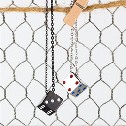 $enCountryForm.capitalKeyWord UK - BC HOT Best Friends Lucky Dice Men and Women Couple Pendant Necklace Jewelry Lovers Valentine's Gift