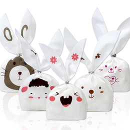 twist ties for bags 2019 - 100 Pcs Bunny Candy Bags Gift Wrap Bags for Party Favors Supplies Ear Bags with Twist Ties for Party Children's day