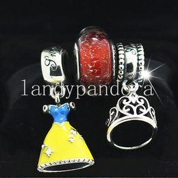 $enCountryForm.capitalKeyWord Australia - DIY Jewelry Sets 925 Sterling Silver Loose Charm & Murano Glass Lampwork Bead Fits European Pandora Bracelet & Necklaces-Christmas Gifts 27