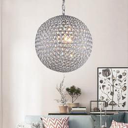 ed6f0118594 Modern luxury globe ball crystal beaded pendant lights lustre cristal  luminarias para salon haning light fixture for dinning living room
