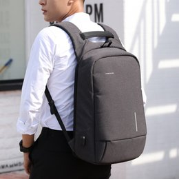 Mobile Interfaces NZ - brand New Men's backpack external USB charging interface Mobile sucker large capacity bag business computer bag Casual anti-theft backpack