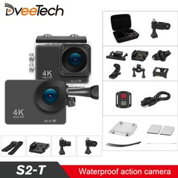 waterproof action camera wifi 2020 - 4K Sports Action Camera Wifi Touch Screen NT96660 Waterproof 30M 16Mp Underwater Action Cam Bicycle Helmet Camera S2-T c
