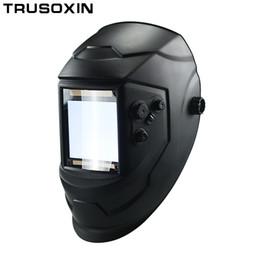 Mask auto solar online shopping - Big View Eara Arc Sensor DIN5 DIN13 Solar Auto Darkening TIG MIG MMA Welding Mask Helmet Welder Cap Lens Face mask Goggles