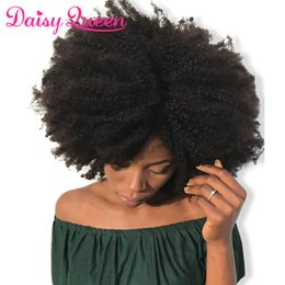 unprocessed afro kinky virgin hair extensions 2019 - Afro Kinky Curly Brazilian Hair Weave Bundles Unprocessed 8A Brazilian Virgin Curly Human Hair Bundles Deal Remy Hair Ex