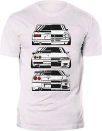 Nissan Skyline 2000 R32 R34 GTR Evolution JDM футболки пользовательские печати Бесплатная доставка лето мода смешные топы Tee повседневная o шеи Мопс на Распродаже