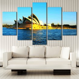 $enCountryForm.capitalKeyWord NZ - (No frame) City Landscape,Sydney HD Canvas print 5 Panel Wall Art Oil Painting Textured Abstract Pictures Decor Living Room Decoration