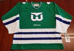 Wholesale Custom Hartford Whalers Vintage CCM Cheap Hockey Jersey Green New Mens  Retro Jerseys 3e41d4b74