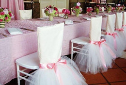 wholesale pink sashes Australia - TUTU Tulle Ribbon Tie It Yourself Cute Chair Sash Chair Covers New Coming Wedding Supplies Wedding Events