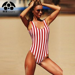$enCountryForm.capitalKeyWord NZ - 2018 Women Swimsuit One Pieces Swimwear Female Stripe Bikini Push Up Jumpsuit Vest Bathing Suit Beach Bather Summer