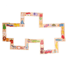 $enCountryForm.capitalKeyWord NZ - 28pcs Set Animal Dominoes Set Cartoon Educational Baby Toys Christmas Gifts Funny Kids Games Wooden Puzzle Toys