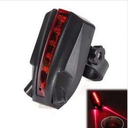 "bicycle laser beam 2019 - LED Bicycle Bike Light Night 2 Laser+5 LED Rear Bike Bicycle Tail Light Beam ""bike logo""Safety Warning Red Rea"