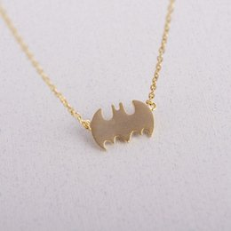superhero necklaces NZ - Npc-simple cute bat necklace movie superhero flying batman animal cartoon necklace father's day children's day gift