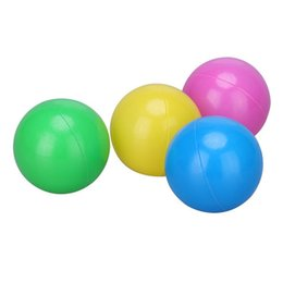 $enCountryForm.capitalKeyWord NZ - 100Pcs Colorful Ball Soft Plastic Ocean Balls Funny Baby Kid Swim Pit Toy With Storage Bag