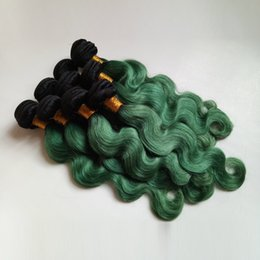 $enCountryForm.capitalKeyWord NZ - Brazilian European Virgin human Hair Weft Sexy Ombre 8-28inch Two Tone 1B green for Beauty Elegant Lady Indian Remy Hair Extensions DHgate