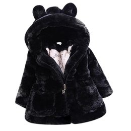 Cold Winter Baby Girls Clothes Faux Fur infant Coat Rabbit Ears Warm kids Jacket Xmas Snowsuit Outerwear enfant children