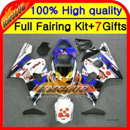 gsxr fairing red white 2018 - Body For Pepephone GSXR750 04 05 GSXR600 04-05 2HM875 GSX R750 K4 R600 Blue white red GSXR 750 600 2004 2005 Fairing che